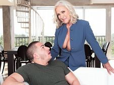 Busty 60Plus realtor Katia copulates 23-year-old client
